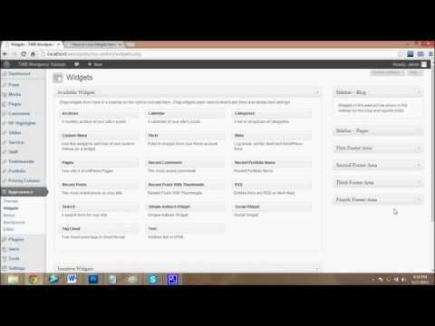 Configuration of WordPress different Widgets | WordPress tutorial # 5