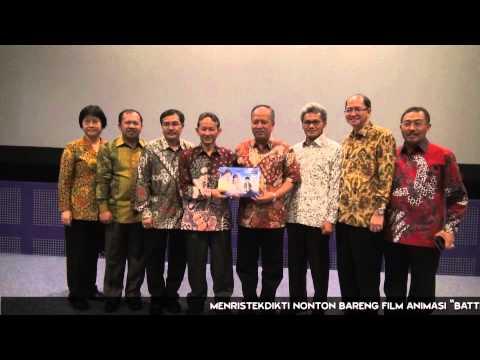 Menristekdikti Nonton Bareng Film Animasi Battle of Surabaya
