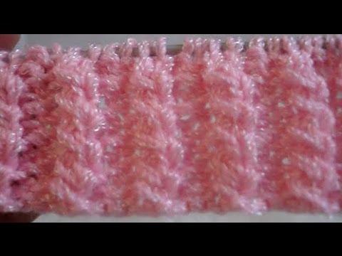 Tutorial como hacer una puntada  de macizos cruzados en crochet