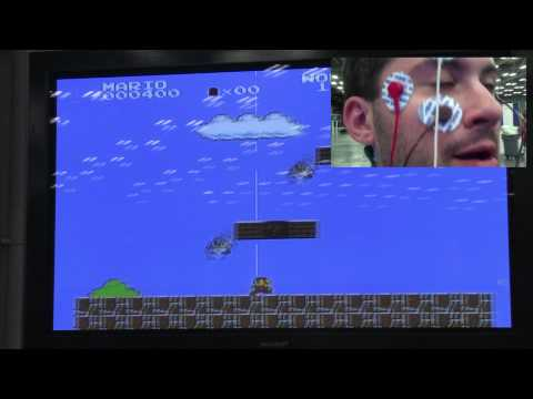 Jugando a Super Mario con los ojos