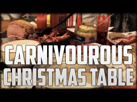 Carnivourous Christmas Table - Regular Ordinary Swedish Meal Time
