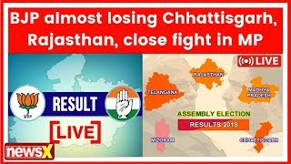 Assembly Election Results 2018: Congress in Rajasthan,Chhattisgarh,TRS in Telangana,MP on knife edge - NEWSXLIVE