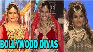 "Bollywood Divas walk the ramp for  ""Indian International Jewellry Week"" 