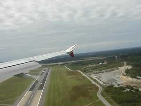 Approach/Landing at Stockholm Arlanda [Air Berlin A320]
