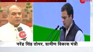 Narendra Singh Tomar slams Rahul Gandhi for relating BJP to Kauravas - ZEENEWS