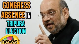 Amit Shah Criticises For Congress absence in Tripura Election Campaign | Mango News - MANGONEWS