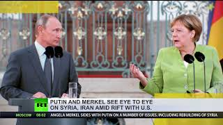 Putin, Merkel meet amid rift with US - RUSSIATODAY
