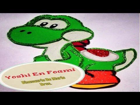 Yoshi En Foami (( Dinosaurio De Mario Bros ))
