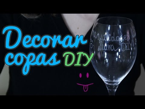 Cómo decorar copas, Grabado en cristal, Manualidades Fáciles