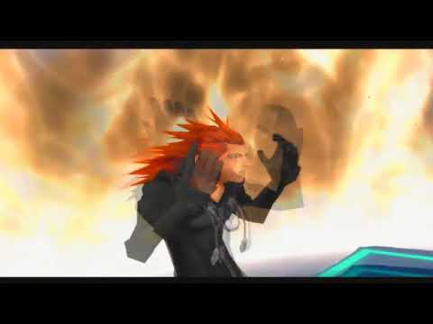 Kingdom hearts 2 Roxas vs axel 1080p HD