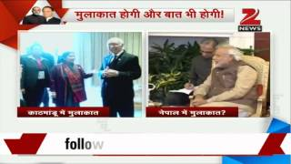 SAARC summit: Sushma Swaraj meets Sartaj Aziz, calls it an act of courtesy - ZEENEWS