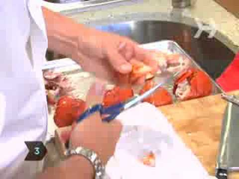 Howcast - How To Remove Meat From a Lobster - Cracking a lobster can take a little work, but it\'s worth it to get to that warm, tender lobster meat. - How To Remove Meat From a Lobster