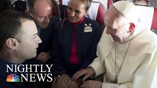 Pope Francis Marries Couple During Flight | NBC Nightly News - NBCNEWS
