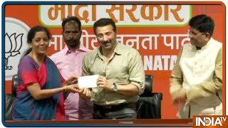 Sunny Deol बने BJP का ढाई किलो का हाथ ! Gurdaspur से लड़ सकते हैं चुनाव - INDIATV