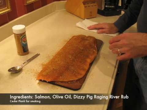 Big Green Egg Cedar Plank Salmon