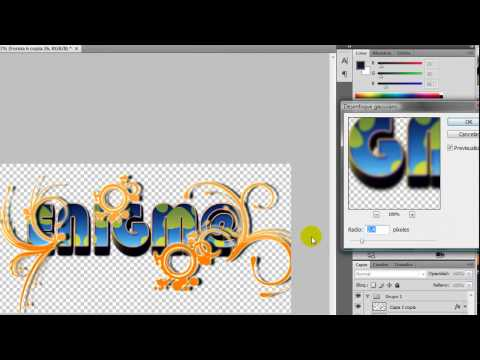 Tutorial Photoshop CS4 Cmo hacer un logotipo?