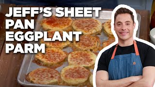 Jeff Mauro Makes Sheet Pan Eggplant Parm | Food Network - FOODNETWORKTV