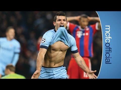 AGUERO HATRICK   City 3-2 Bayern Munich UCL   Post match interview