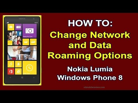 Lumia 1020 Change Network & Roaming Options