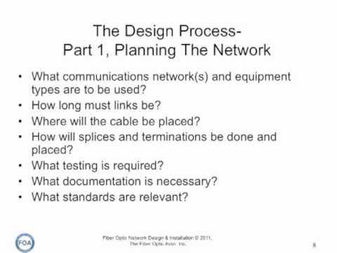 FOA Lecture 9: Fiber Optic Network Design, Part 1