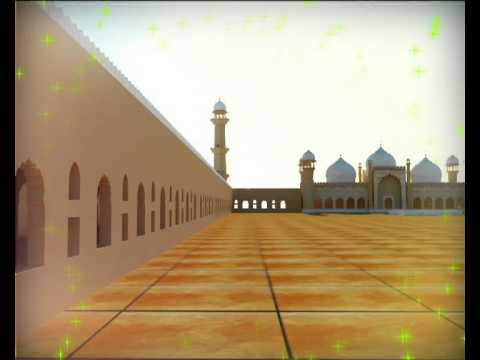 Badshahi mosque 3ds max