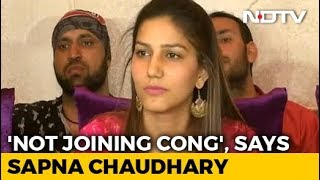 Dancer Sapna Chaudhary Denies Joining Congress Ahead Of Polls - NDTV
