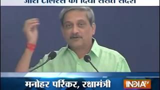 'zero tolerance to error' in defence-related issues: Manohar Parrikar - INDIATV