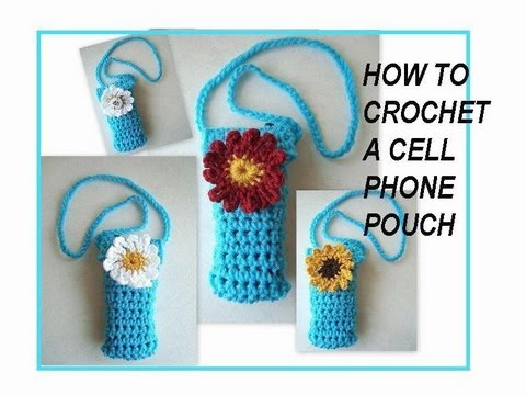 How to CROCHET A CELL PHONE POUCH