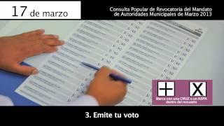 Como votar en la revocatoria Lima 2013