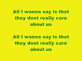 Michael Jackson - They Don't Really Care About Us Lyrics
