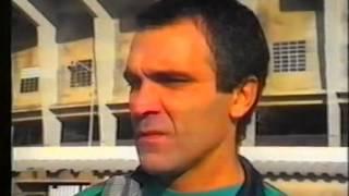 Primeiro treino de Raul Águas ao serviço do Sporting em 1989/1990