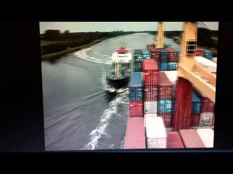 Container Ship Crash collision with tanker in Kiel Canal 2011 SHIP CRASH video 1 2 