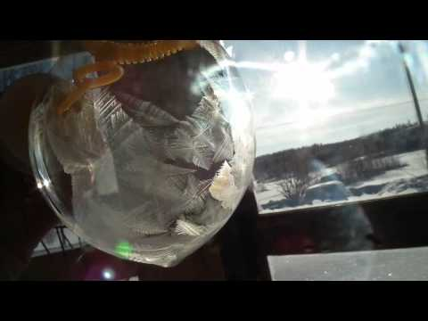 Mrznúca mydlová bublina
