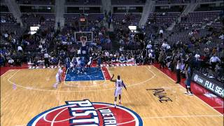 Josh Smith's Game Winning 3, Pistons Owner Awkward Celebration