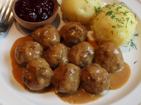 Swedish Meatballs Recipe -- Beef & Pork Meatballs with Creamy Brown Gravy
