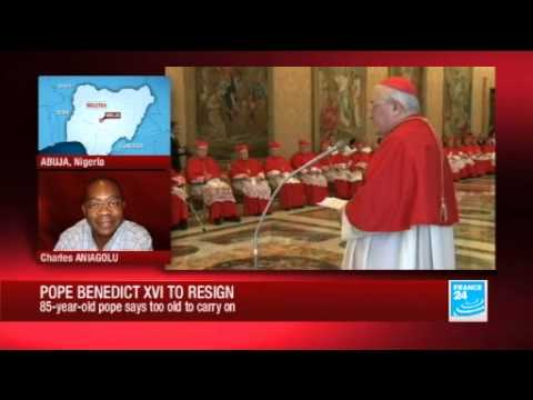 Charles Aniagolu reports on the Nigerian reaction to the Pope's resignation