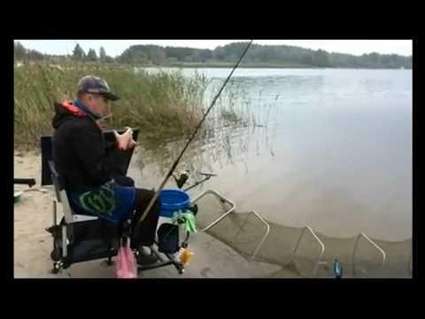 ловля на фидер на озере весной
