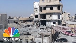 Drone Video Reveals Destruction As Raqqa Is Officially Declared 'Liberated From ISIS' | NBC News - NBCNEWS