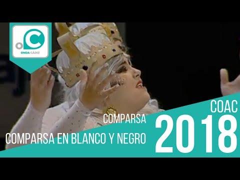 La agrupación En blanco y negro llega al COAC 2018 en la modalidad de Comparsas. Primera actuación de la agrupación para esta modalidad.