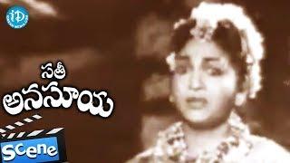 Sati Anasuya Movie Scenes - Gummadi Fools Anjali Devi || NTR || Relangi || Ghantasala - IDREAMMOVIES