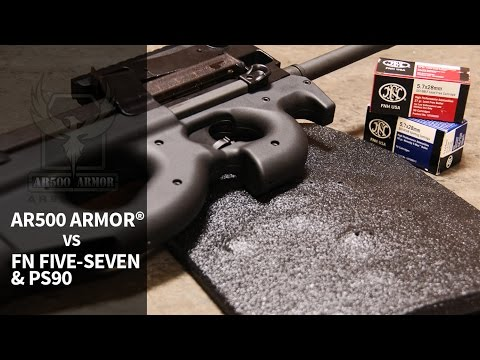 5.7x28mm FN Five-Seven & PS90 vs. AR500 Armor®