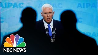 Vice President Mike Pence: Democratic Party 'Co-Opted' By Anti-Semitic Rhetoric | NBC News - NBCNEWS