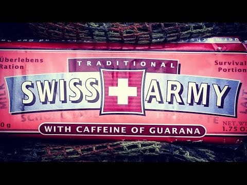 Traditional Swiss Army Milk Chocolate Survival Portion | Schweizer Armee Schokolade [Deutsch]
