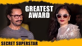 """Aamir Khan Has Now Given Me The Greatest Award "" : Rekha 