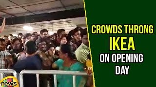 Crowds Throng IKEA on Opening Day | Sprawling Ikea Store in Hyderabad | Mango News - MANGONEWS