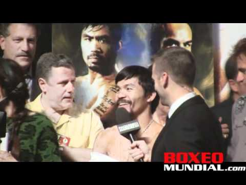 Manny Pacquiao- Juan Manuel Marquez 3 weighin video