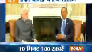 India TV News: News 100 | January 25, 2015 | 6:30 AM - INDIATV