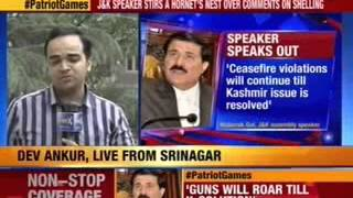 J&K Speaker: Shelling to continue till Kashmir issue resolved - NEWSXLIVE