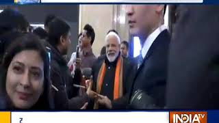 PM Modi Arrives In Seoul, Greets Members Of The Indian Community - INDIATV