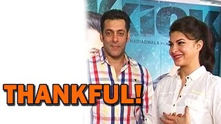 Salman Khan and Jacqueline Fernandez thanking their fans! - EXCLUSIVE INTERVIEW!